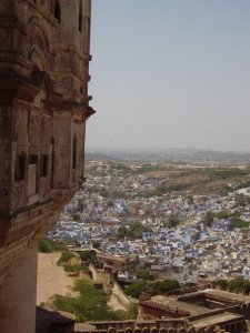 View over Jodhpur from the fort