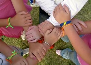 Interlinked hands