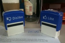 Facebook style like and dislike stamps