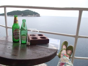 View from a Dubrovnik bar over the Adriatic