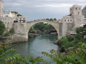 Mostar's famous old bridge
