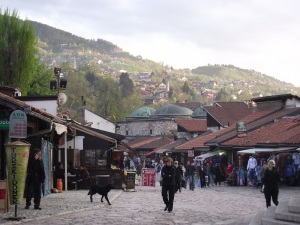 A square in Sarajevo's old town