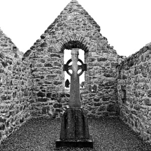 Church with St Patrick's cross