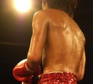 Sweaty boxer