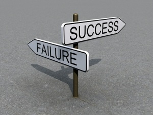 Success and failure sign