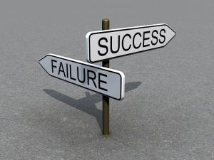 Success and failure sign